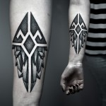 Dotwork Symbolic Crystals tattoo by Kamil Czapiga