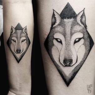 Dotwork Wolf tattoo