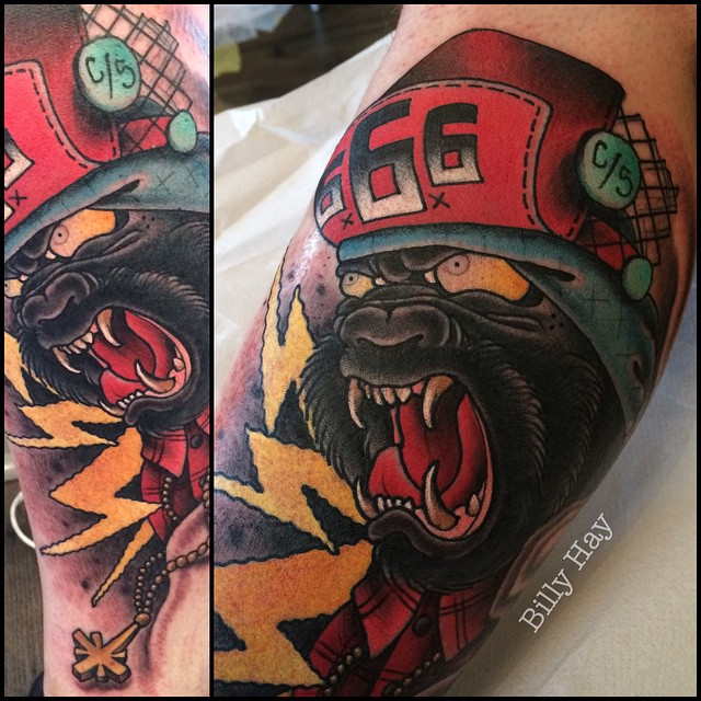 Enraged Ape New School tattoo