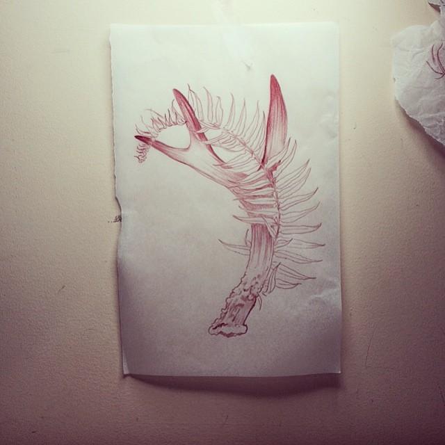 Fern Antlers tattoo design
