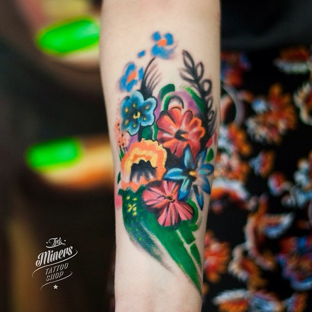 Coolest inner arm tattoos you must see best tattoo for Forearm flower tattoos