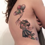 Fly Balloons Body tattoo