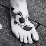 Foot Cancer Blackwork tattoo by Matthias Schmid