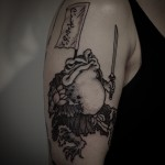 Frog Samurai tattoo by Gotch Tattoo