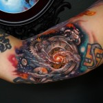 Galaxy Clock Arm tattoo