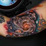 Galaxy Clock Arm tattoo
