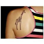 Giraffe Stand Tall Lettering tattoo