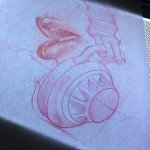 Headphones Lips tattoo idea by Hector Cedillo