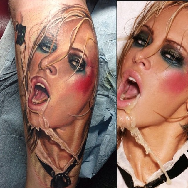Hot Jenna Jameson tattoo