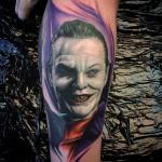 Jack Nicholson Joker tattoo by Max Pniewski