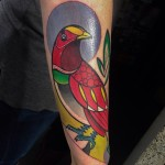 King Bird of Paradise on Arm