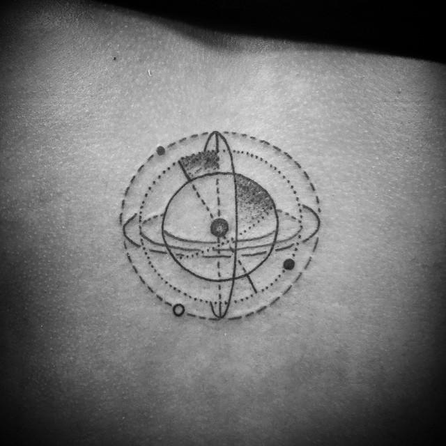 Little Orbit Small tattoo