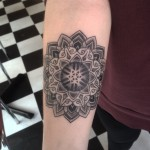 Mandala Hexagram Star tattoo