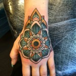Mandala Star Flower on Hand
