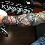 News Parer Realistic Arm tattoo