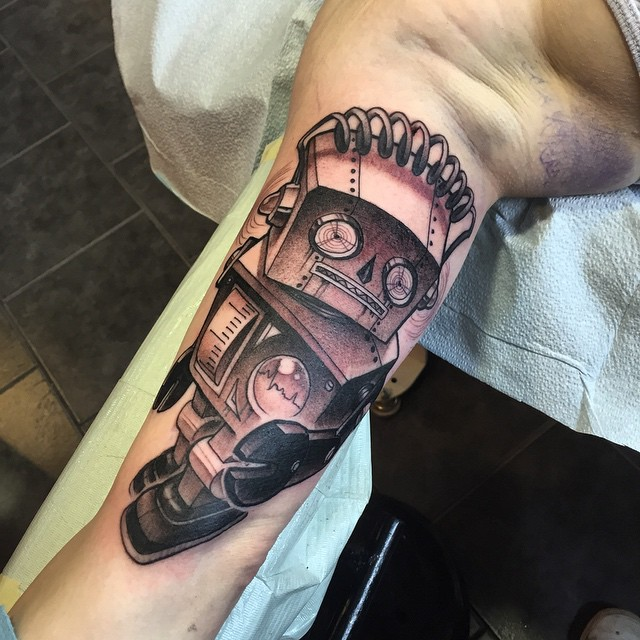 Old Robot Arm tattoo