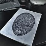 Picasso Style Town Blackwork tattoo idea by Kolahari