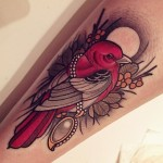 Red Bird Arm tattoo