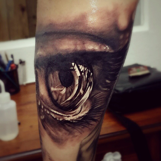 Reflection in the Eye Realistic tattoo