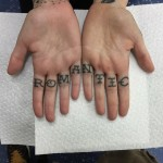 Romantic Lettering tattoo