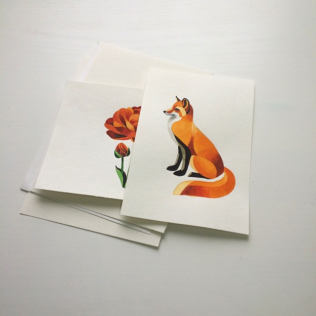 Rose and Fox tattoo ideas by Sasha Unisex