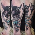 Scary Night Arm tattoo idea