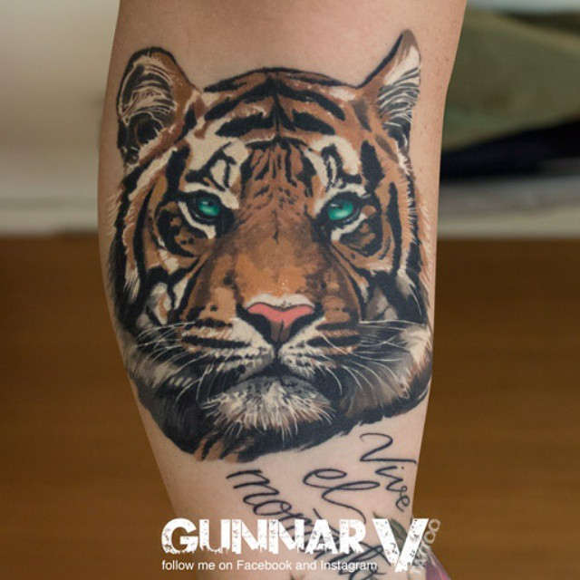 Serious Tiger tattoo