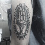Shining Hand Arm tattoo