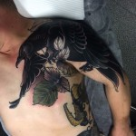 Shoulder Crow tattoo