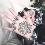 Snowflake Hand tattoo by Mark Walker