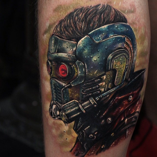 Star-Lord Guardians of Galaxy tattoo by Rich Pineda