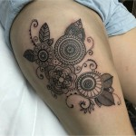 Mehendi Thigh Tattoo for girls