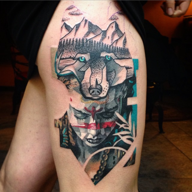 Think of Mountains tattoo by Martynas Šnioka
