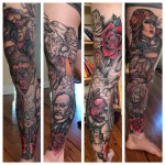 Wild Leg Of Chaos Leg tattoo by Craig Gardyan