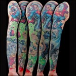 Zombie SuperHeroes Fight Sleeve