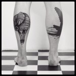 Air Leg Tattoos