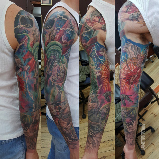 Allmighty Thor Tattoo Sleeve