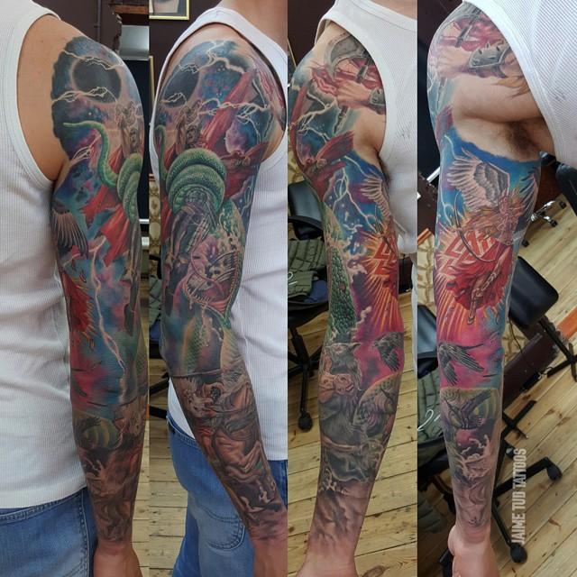 Almighty Thor Tattoo Sleeve