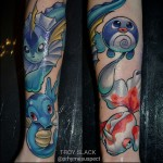 Amazing Pokemon tattoo on Arm