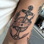 Anchor Planet Arm tattoo