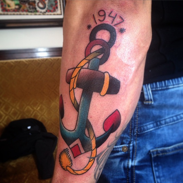 Anchor for Mother Arm tattoo