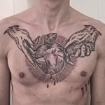 Apple Cut Chest tattoo