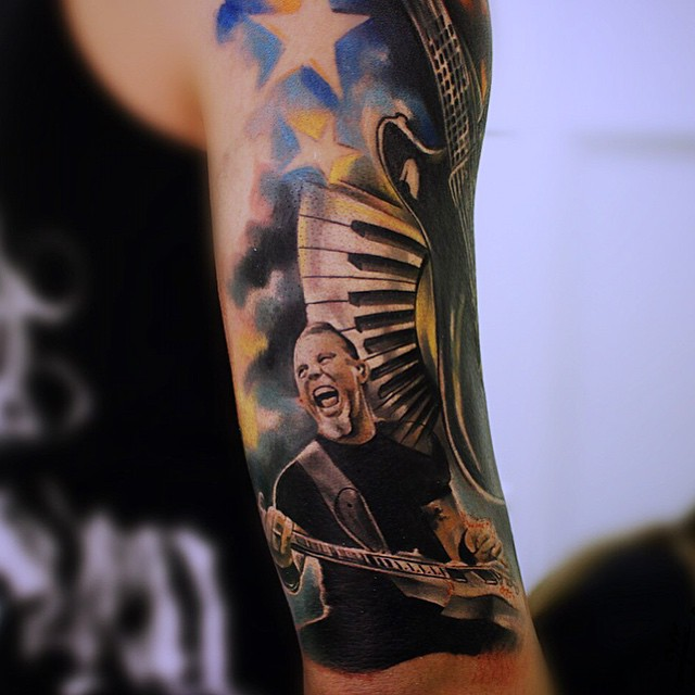 Arm James Hetfield tattoo | Best Tattoo Ideas Gallery
