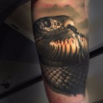 Arm Snake Realistic tattoo