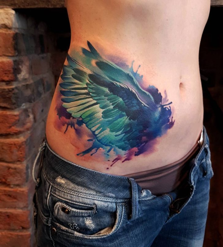 Body Big Wings Bird tattoo