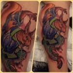 Asian War Squirrel Japanese tattoo