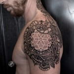 Awesome Pattern Shoulder tattoo
