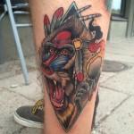 Baboon Shaman tattoo