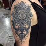 Baroque Mandala Shoulder tattoo