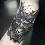 Beautiful Dotwork Owl on Arm